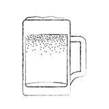 Fresh beer in jar isolated icon Stock Photo