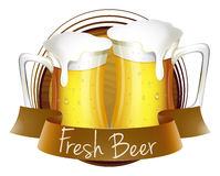 Fresh beer label Royalty Free Stock Photos