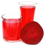Fresh Beet with juice in glass Royalty Free Stock Photography