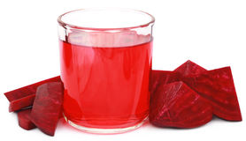 Fresh Beet with juice in glass Royalty Free Stock Image
