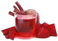 Fresh Beet with juice in glass Royalty Free Stock Photo