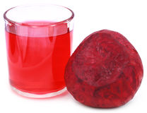 Fresh Beet with juice in glass Stock Photos