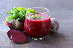 Fresh beet juice with mint leaf Stock Images