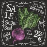 Fresh beet vector logo design template. vegetables Royalty Free Stock Photo