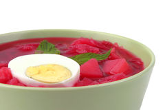 Fresh beet vegetable soup Royalty Free Stock Photography