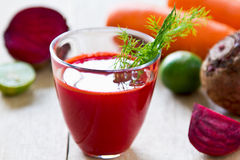 Beetroot with Carrot and Lime juice Royalty Free Stock Photos
