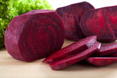 Fresh beetroot cut into slice Stock Image