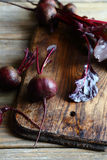 Fresh Beetroot on a cutting board Royalty Free Stock Images