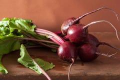 Fresh beetroot on wooden background. Fresh beet root on wooden background Royalty Free Stock Image