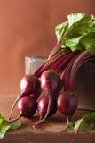 Fresh beetroot on wooden background. Fresh beet root on wooden background Royalty Free Stock Photography