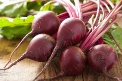 Fresh beetroot on wooden background Stock Image
