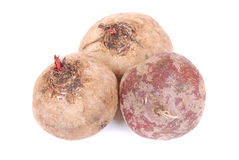 Beetroot fresh on white Royalty Free Stock Images