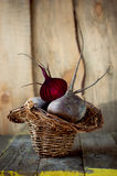 Fresh beets in a basket. Stock Images