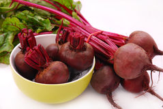 Fresh beets with leaves Stock Photo