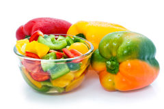 Fresh bell peppers Royalty Free Stock Photos