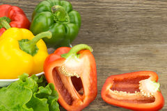 Fresh bell peppers in bowl Stock Photos