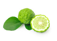 Fresh bergamot fruit isolate on white background with clipping p royalty free stock photography