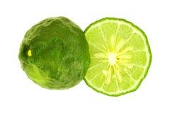 Fresh bergamot fruit isolated on white background with clipping path.  royalty free stock images