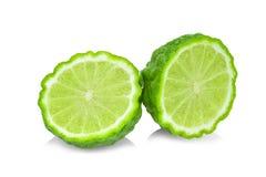 Fresh bergamot isolated on white. Background royalty free stock images