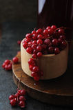Fresh berrie drink and bowl with  red currant Stock Image