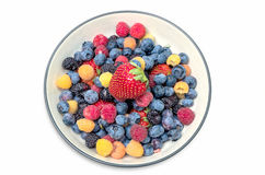 Fresh Berries in Bowl Royalty Free Stock Photo