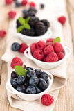 Fresh berries in bowls. Stock Photography