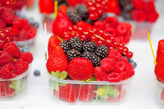 Fresh berries in box Royalty Free Stock Image