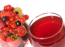 Fresh berries and cocktail Stock Photo