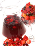 Fresh berries and cocktail Royalty Free Stock Photo