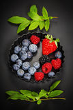Fresh Berries on Dark  Background. Stock Images