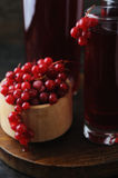 Fresh berries drink and bowl with frosty  currant Stock Image
