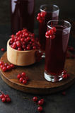Fresh berries drink and bowl with red currant Royalty Free Stock Image