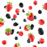 Fresh Berries explosion Royalty Free Stock Photography