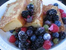 Fresh Berries with French Toast Stock Photo