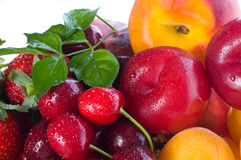 Fresh berries and fruit Stock Images