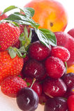 Fresh berries and fruit Royalty Free Stock Photos