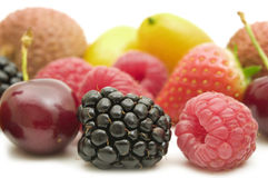 Fresh berries and fruits Stock Photos