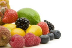 Fresh berries and fruits Stock Images