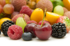 Fresh berries and fruits Stock Photography