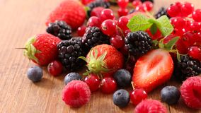 Fresh berries fruits. Close up on fresh berries fruits Royalty Free Stock Photos