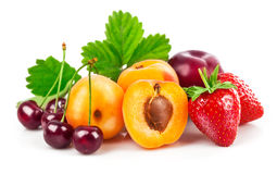Fresh berries and fruits in still life Stock Image