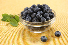 Fresh berries in a glass bowl Royalty Free Stock Photography