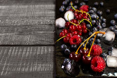Fresh berries with ice Royalty Free Stock Image