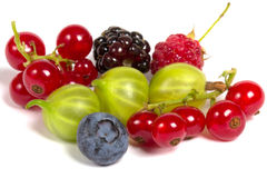 Fresh berries isolated Stock Photo