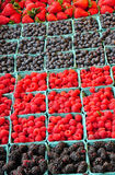 Fresh berries at market Royalty Free Stock Image