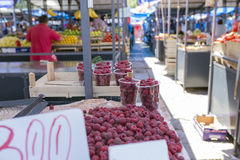 Fresh berries in the market Royalty Free Stock Images