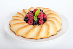 Fresh berries pie on plate Royalty Free Stock Photos