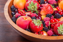 Fresh berries in plate Stock Image