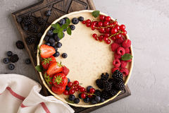 Fresh berries on a plate Royalty Free Stock Photos