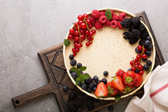Fresh berries on a plate Stock Photos